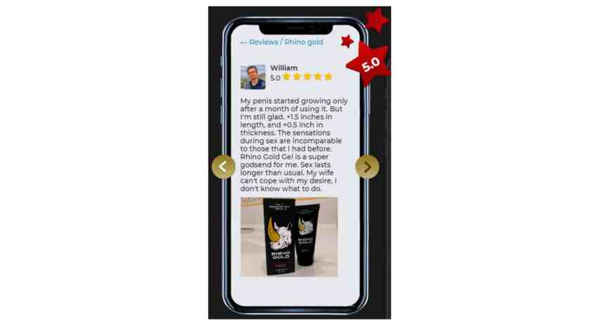Rhino gold gel Customer Reviews