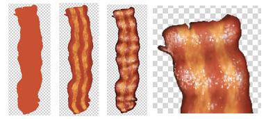 Digital Raster Bacon Illustration