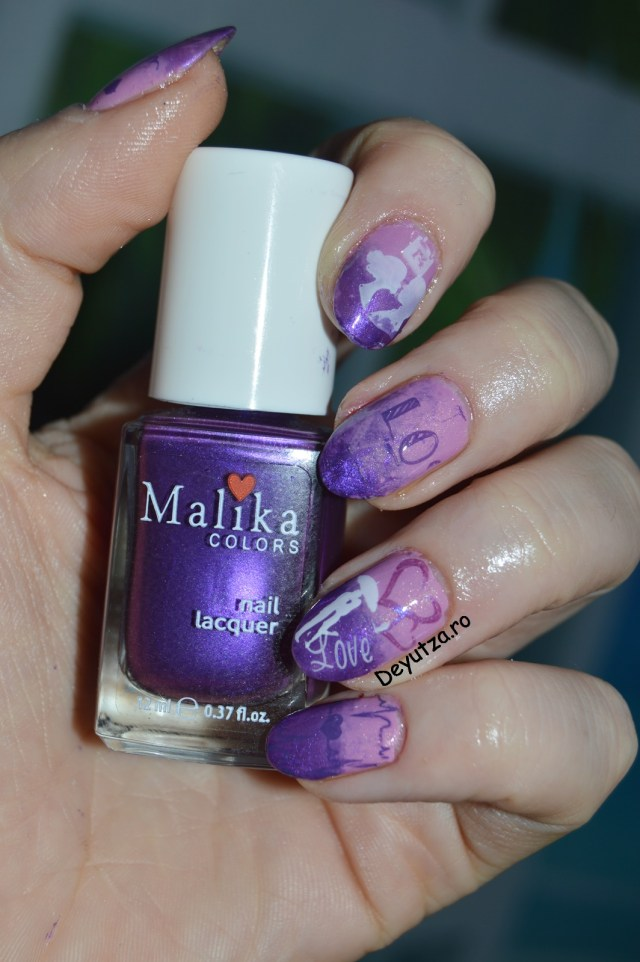 purple malika nails