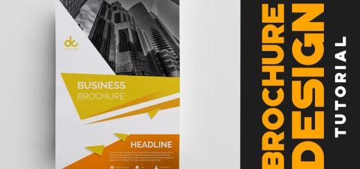 Brochure Design Tutorial Free PSD