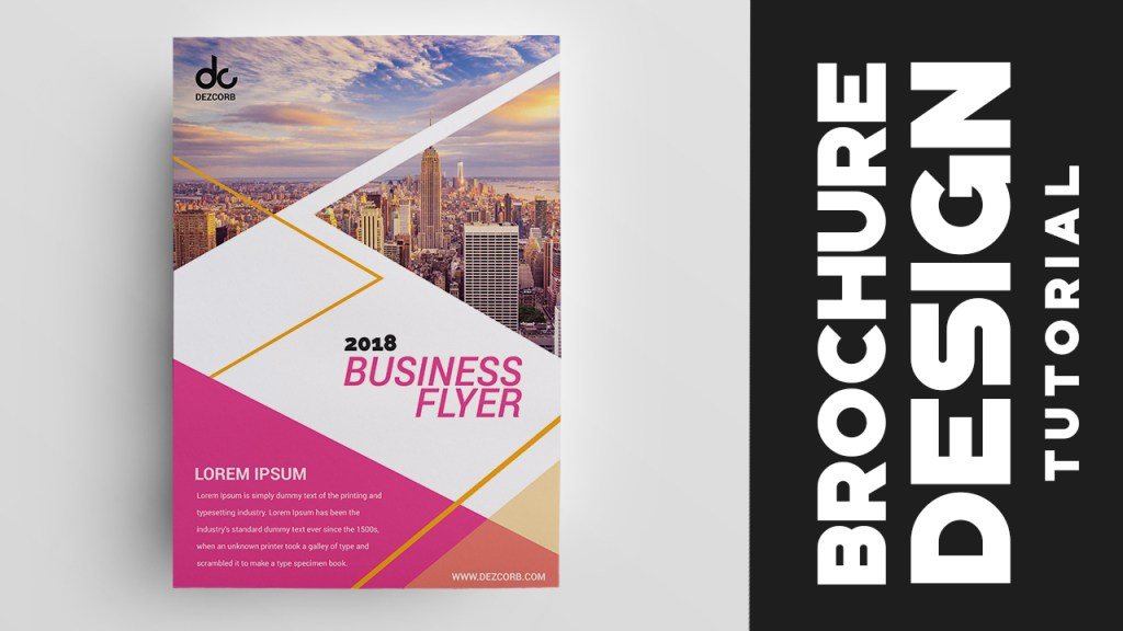 How To Design Brochure In Photoshop Cs Professional Corporate