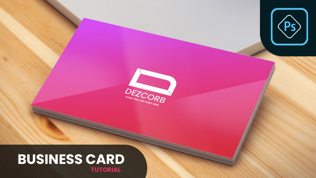 Design Business Card in Photoshop CC 2019