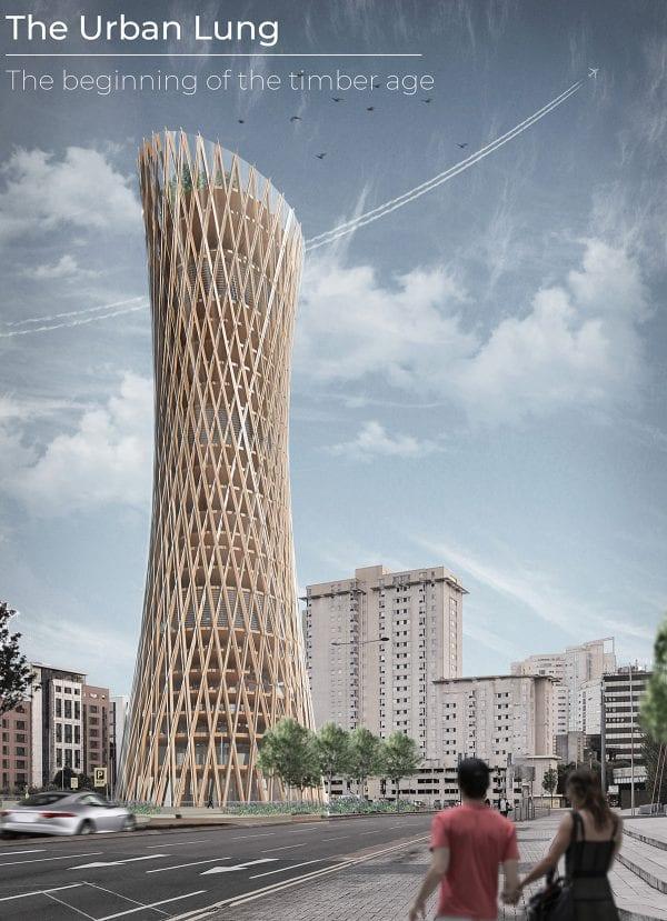 The Urban Lung: Timber Skyscraper