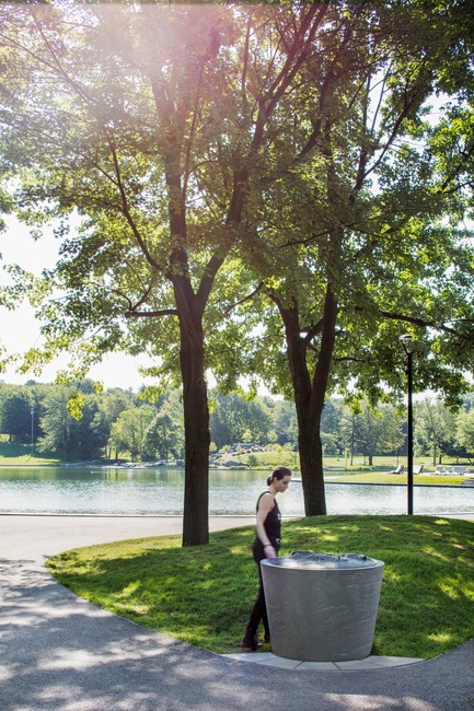 Press kit   2366-03 - Press release   Montreal Project Wins Major International Design Award - civiliti with Julie Margot design - Landscape Architecture - &nbsp;Tridimensional map located close to Beaver Lake, at the heart of the park's recreational area<br> - Photo credit: Adrien Williams