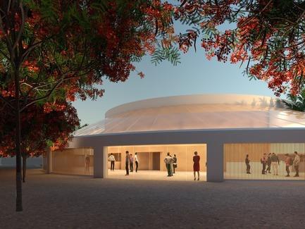 Press kit | 1204-07 - Press release | Pei Cobb Freed & Partners Unveils Transformative Design for IESB Brasilia - Pei Cobb Freed & Partners - Institutional Architecture - Auditorium building<br> - Photo credit: Pei Cobb Freed &amp; Partners