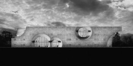Press kit   2255-01 - Press release   Liepāja Thermal Bath receives 2016 AAP American Architecture Prize - Steven Christensen Architecture - Institutional Architecture - South Elevation - Photo credit: Steven Christensen Architecture