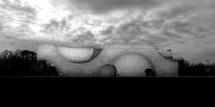 Press kit   2255-01 - Press release   Liepāja Thermal Bath receives 2016 AAP American Architecture Prize - Steven Christensen Architecture - Institutional Architecture - West Elevation - Photo credit: Steven Christensen Architecture