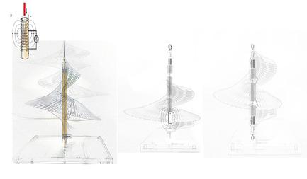 Press kit   2121-06 - Press release   Seismic Electromagnetic Induction LED - Margot Krasojević Architects - Lighting Design - Electromagnetic induction LED diagram - Photo credit: Margot Krasojević