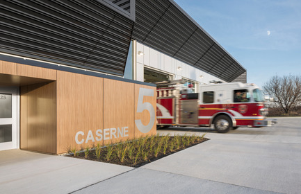 Press kit | 1695-02 - Press release | Fire Station #5 - STGM Architects + CCM2 Architects - Institutional Architecture - Photo credit: Stéphane Groleau