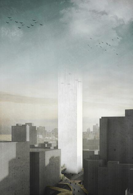 Press kit | 1127-13 - Press release | Winners 2017 eVolo Skyscraper Competition - eVolo Magazine - Competition - In Two Minds: Magnetic Cemetery - honorable mention - Photo credit: Marine Joli, Judith Haggiag