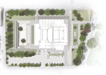 Press kit | 865-24 - Press release | Preserving Heritage: Grand Théâtre de Québec to Don Glass Casing by Lemay and Atelier 21 - Consortium Lemay and Atelier 21 - Institutional Architecture - Layout plan - Photo credit:  Lemay and Atelier 21