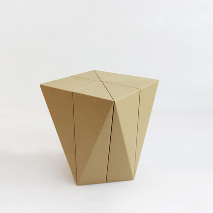 Press kit | 2128-01 - Press release | Fractal Surface Structure made with Cardboard Sheet: Spiral Stool by MisoSoupDesign Awarded Platinum A'Design Award - MisoSoupDesign - Product - Spiral Stool - Photo credit: Daisuke Nagatomo
