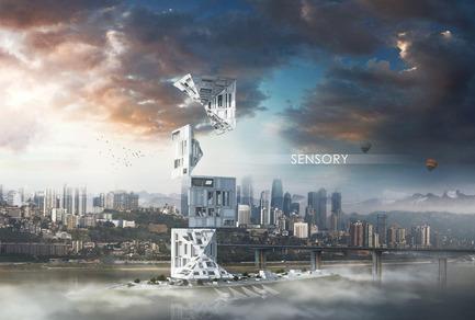 Press kit | 1127-05 - Press release | Winners 2016 Skyscraper Competition - eVolo Magazine - Competition - Sensory Skyscraper - Photo credit: Alexandr Pincov, Heng Chang