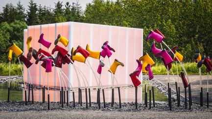 Press kit   837-13 - Press release   Participatory Gardens for the 16th International Garden Festival - International Garden Festival / Reford Gardens - Landscape Architecture - SE MOUILLER (la belle échappée), 2015 <br>Groupe A / Annexe U [Jean-François Laroche, Rémi Morency, Érick Rivard &amp; Maxime Rousseau]<br><br>Québec (Québec) Canada<br><br>www.groupea.qc.ca&nbsp;<br><br>Sponsors: KAMIK &amp; Polyalto - Photo credit: Louise Tanguay