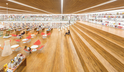 Press kit | 809-12 - Press release | Azure announces the winners of the fourth annual AZ Awards - Azure Magazine - Competition - Best Commercial/Institutional Interiors: Studio MK27: Cultura bookstore, São Paulo, Brazil