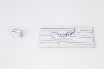 Press kit | 1134-01 - Press release | Papier14 - Contemporary Art Fair of Works on Paper - The Contemporary Art Galleries Association (AGAC) - Event + Exhibition - Ken NicolProject index card (nesting 22 cubes), 2013papier, 12.5 x 7.5 cm, édition de 5 + 1 épreuve d'artisteMKG127 (Toronto)