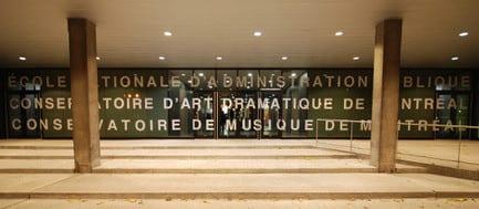 Press kit - Press release - The Conservatoire de musique et d'art dramatique du Québec and the installations of the ÉNAP - Saia Barbarese Topouzanov Architectes