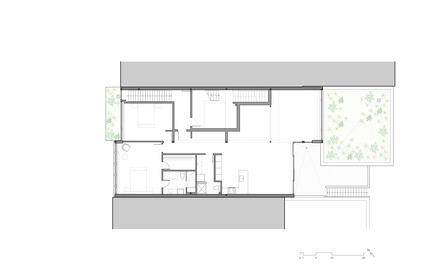 Press kit | 780-05 - Press release | Van Horne - Paul Bernier Architecte - Residential Architecture - Second floor plan - Photo credit: Paul Bernier Architecte