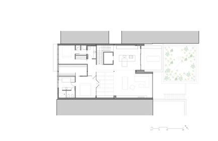 Press kit | 780-05 - Press release | Van Horne - Paul Bernier Architecte - Residential Architecture - Third floor plan - Photo credit: Paul Bernier Architecte