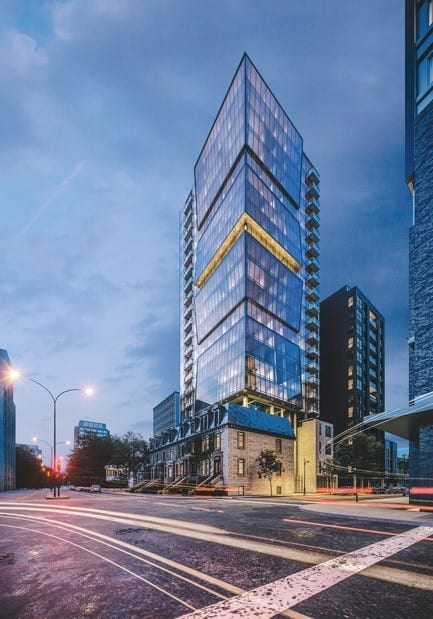 Press kit - Press release - ENTICY, a new boutique condo project in downtown Montreal - Claridge-Omnia Technologies-Geiger Huot