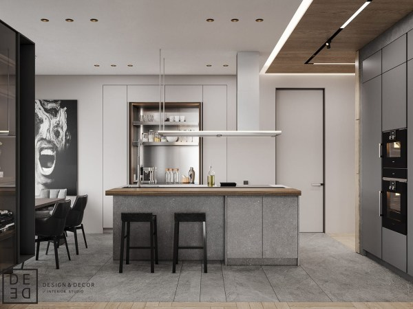 DE&DE Apartment/Gorgeous minimalism with wooden accents