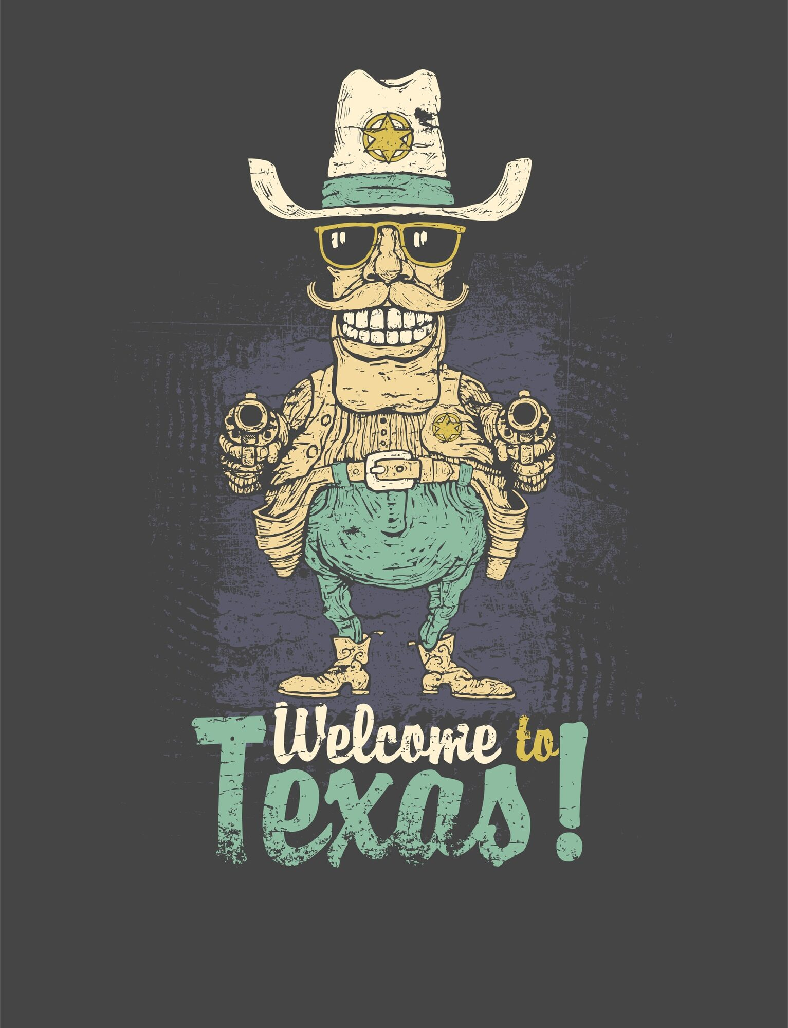 Welcome To Texas Print CDR File