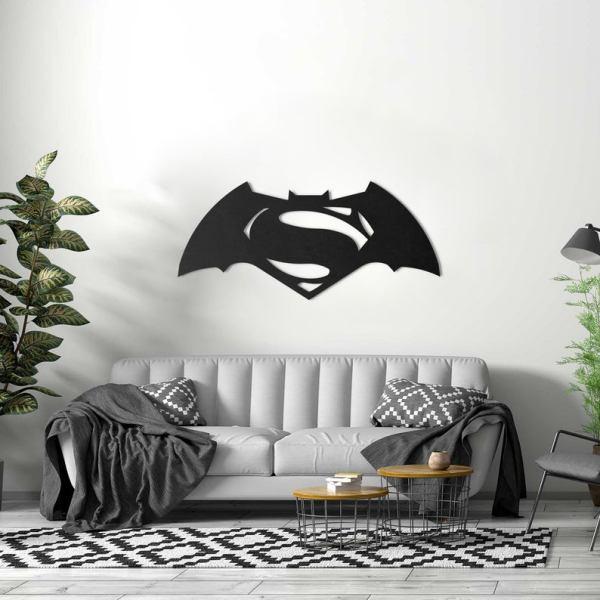 Batman Superman Metal Wall Art Decor 3D Wall Silhouette