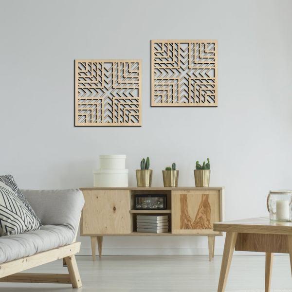 Decorative Diptych, Living room decor, Openwork Panel