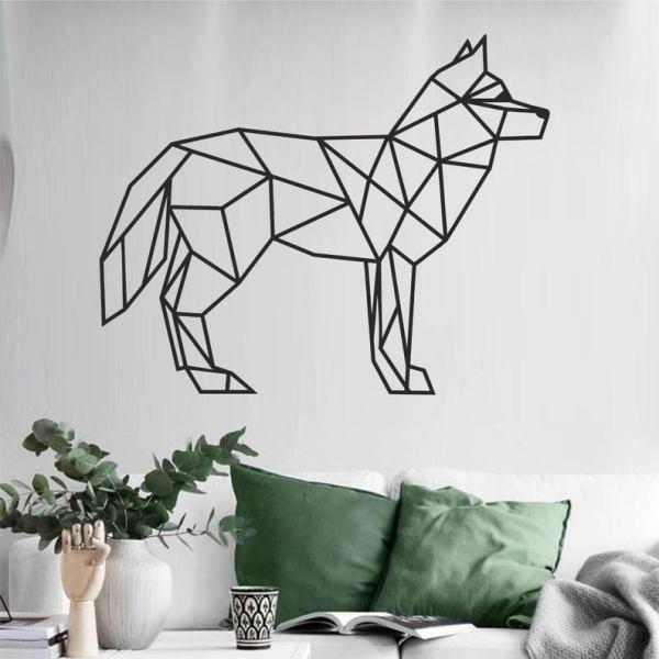 Metal Wall Art, Geometric Fox, Metal Fox Wall Decor