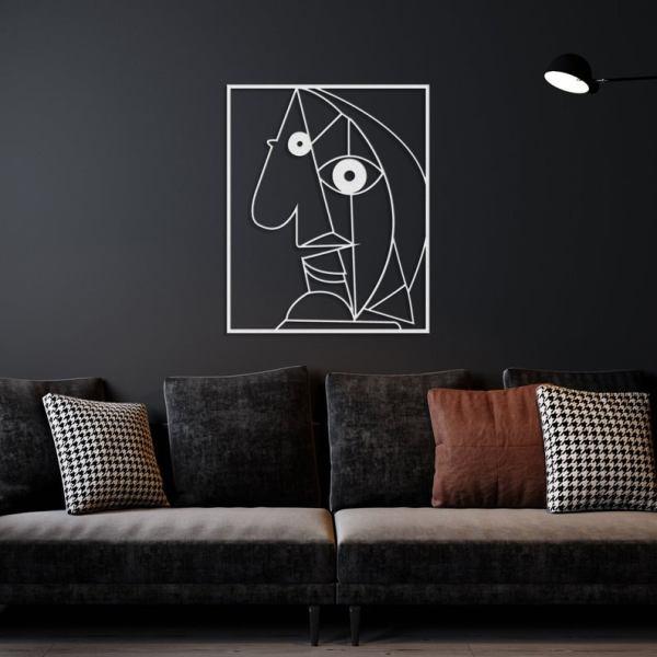 Picasso Series Metal Wall Decor, Minimalist Decor Vector File