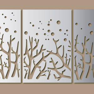 Tree Metal Sheet Wall Decor Free Vector
