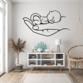 Baby in Hand Wall Decor SVG Vector for Cutting Files