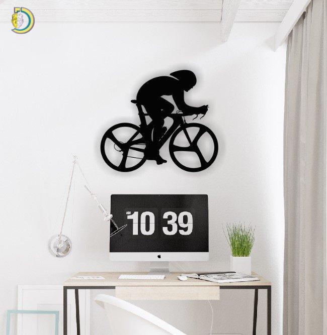 Bike Racer Wall Decor Wall Art CDR DXF Free Vector