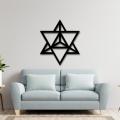 Cosmic Merkaba Star Wall Decor From Wood, Wooden Wall Art