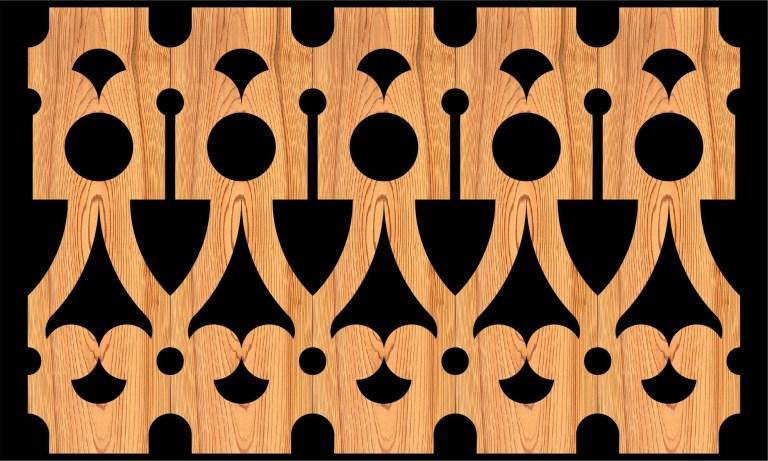 Decorative Baluster Railing 09 Pattern PDF File