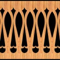 Decorative Baluster Railing 37 Pattern PDF File