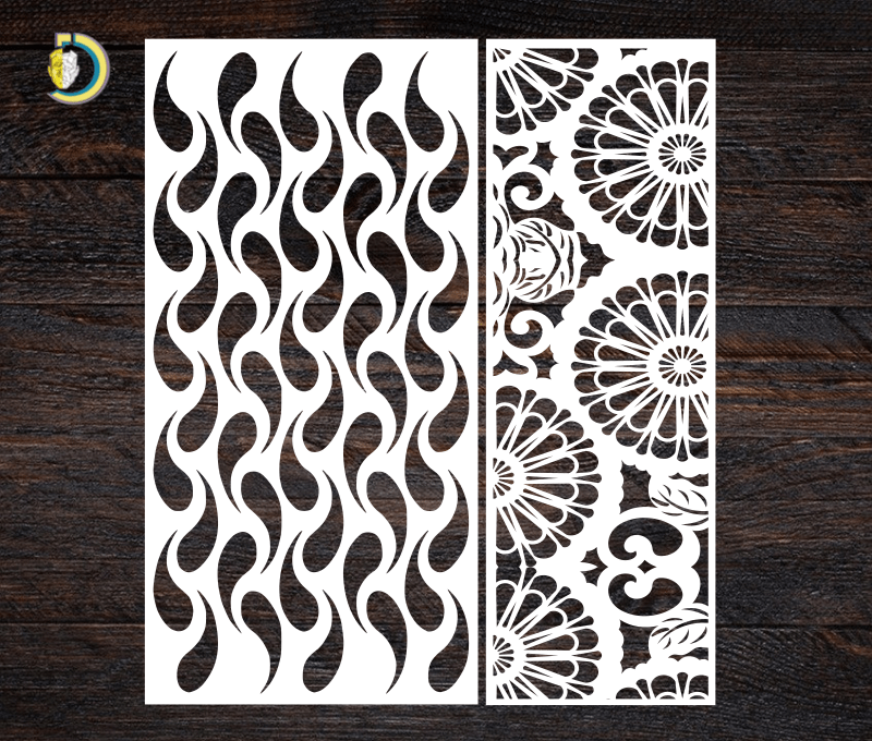 Decorative Screen Panel 22 CDR DXF Laser Cut Free Vector