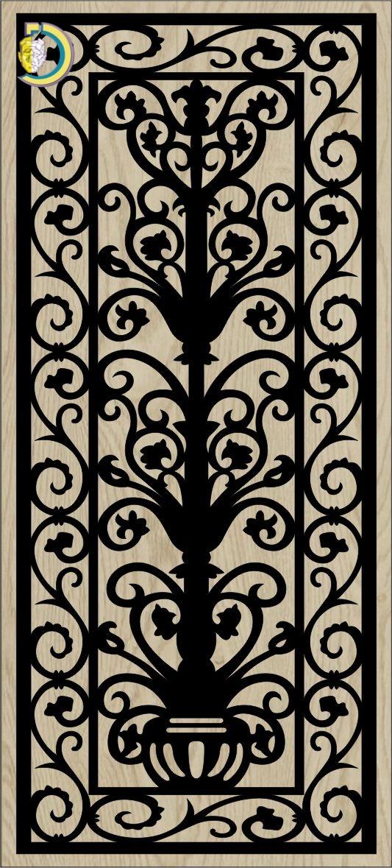 Decorative Slotted Panel 362 Pattern PDF File