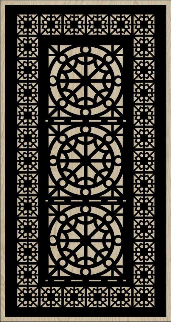 Decorative Slotted Panel 43 Pattern PDF File