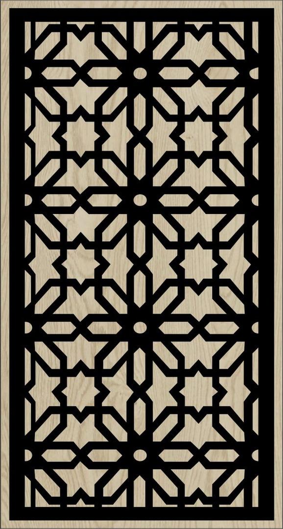 Decorative Slotted Panel 52 Pattern PDF File