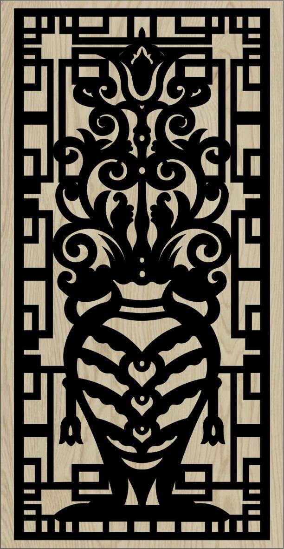 Decorative Slotted Panel 09 Pattern PDF File