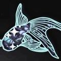 Goldfish Layered Mandala Free Vector for Laser Cutting