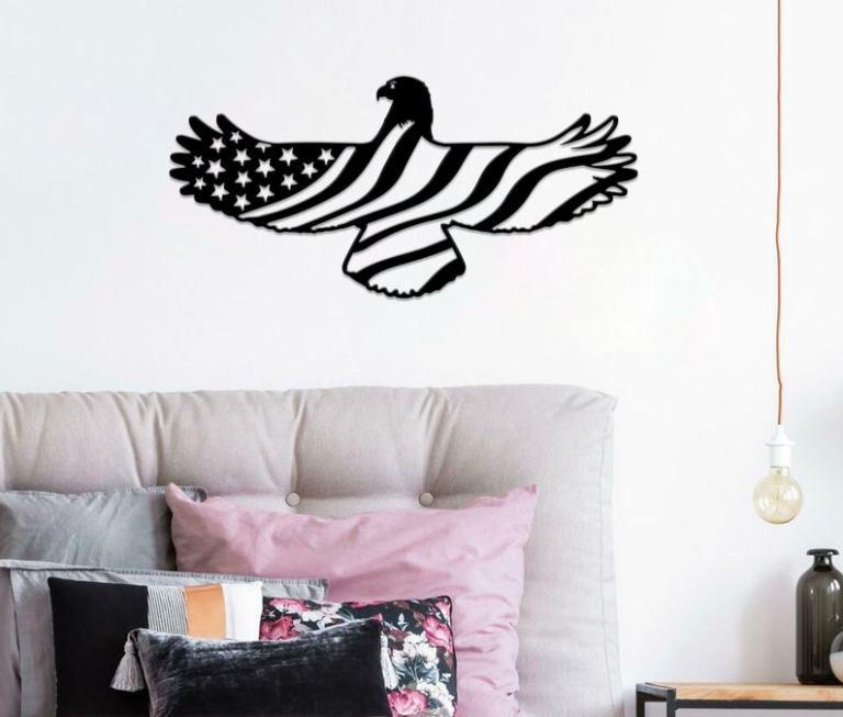 July 4th gift, United States Metal Art, Metal Flag