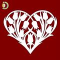 Laser Cut Flower in Heart Wedding Gift SVG DXF Free Vector
