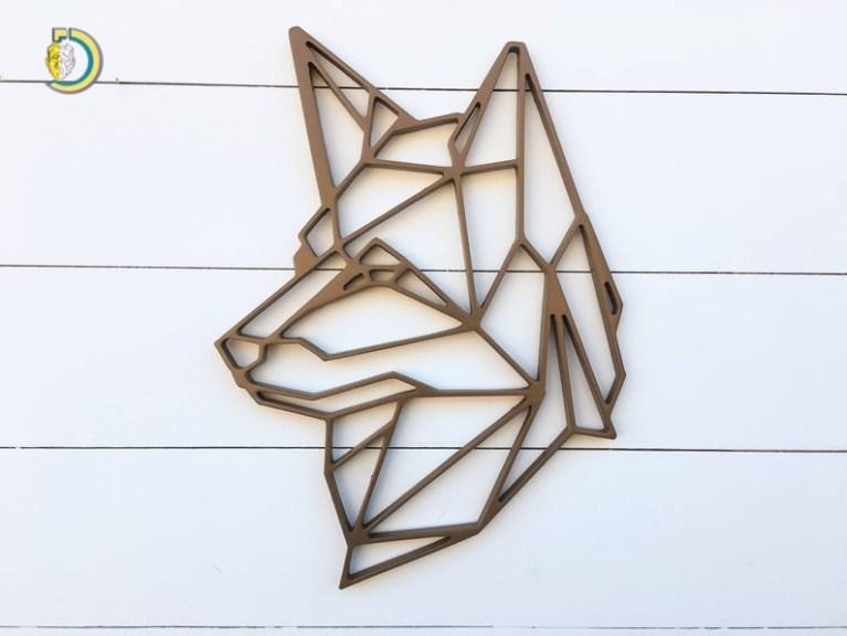 Laser Cut Geometric Dog Wall Hanging German Shepard Wall Art