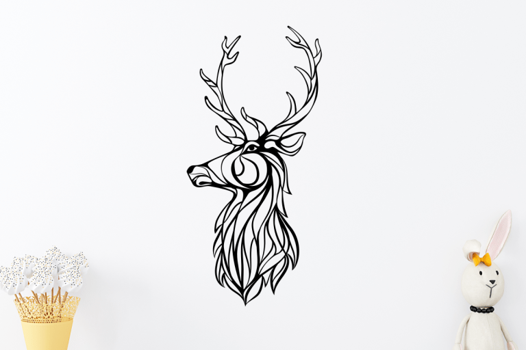 Laser Cut Reindeer Wood, Metal 3mm Vector Cut Files