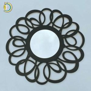 Laser Cut Round Mirror Wooden Wall Mirror Floresy Vector Files