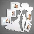 Laser Cut Wedding Couple Heart Photo Frame Free Vector