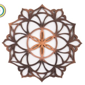 Mandala Wall Art Wood Decor Wood Wall Art Vector