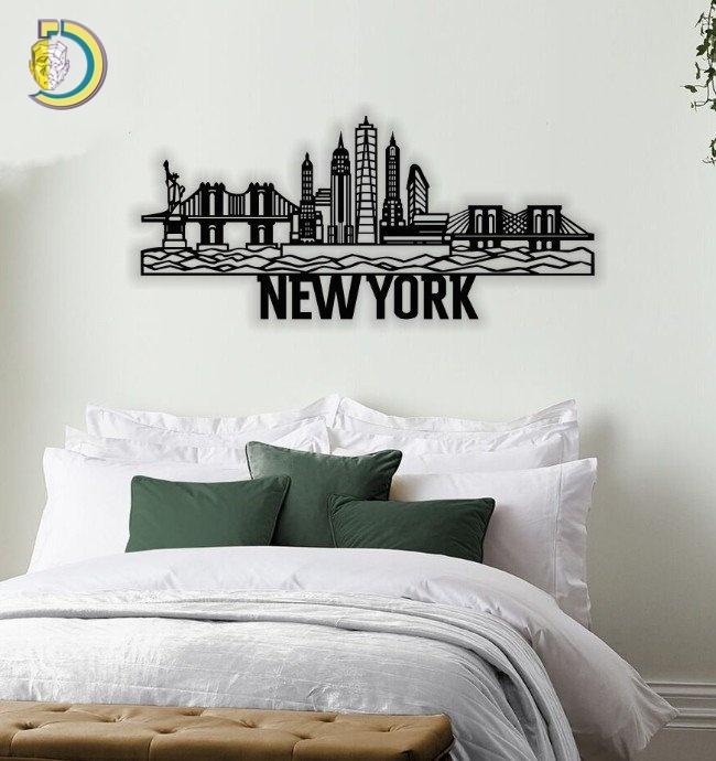 New York City Wall Decor Laser Cut Plasma CDR Free Vector
